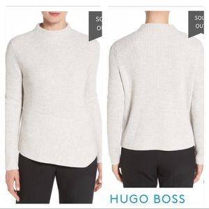 NWT! BOSS HUGO BOSS 'Farile' Ribbed Mock Sweater